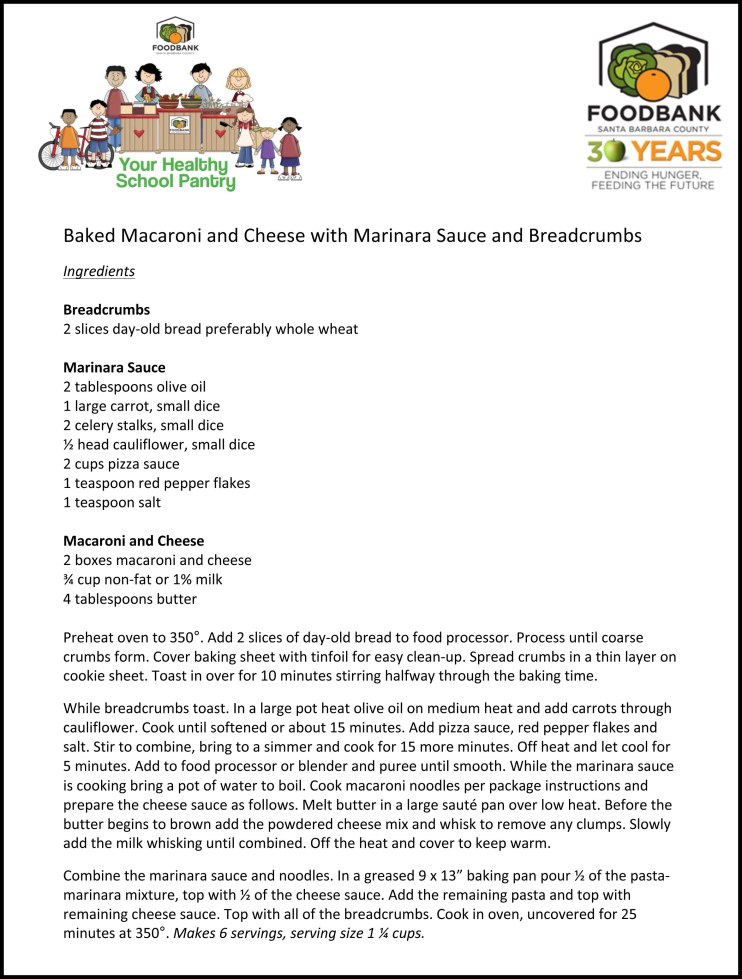 Microsoft Word - 13-01-15 HSP Baked Macaroni and Cheese with Mar