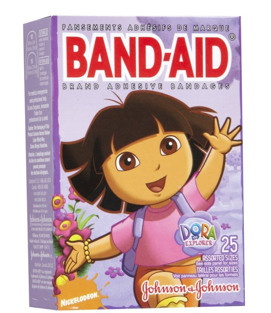 """Thanks for the plug, mijo."" Who'd have thought half the world's band aid use would be by  kids who want an external demonstration of some social or psychological owee!"